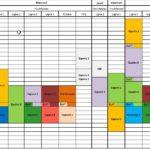 Planning des entraînements de la section Compétition