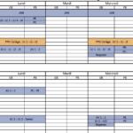 Planning d'Entraînement Vacances de février 2019