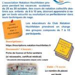 Stage d'une semaine pour apprendre à nager - du 25 au 30 octobre